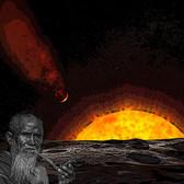 彗星の落下を眺める老人(未発表)