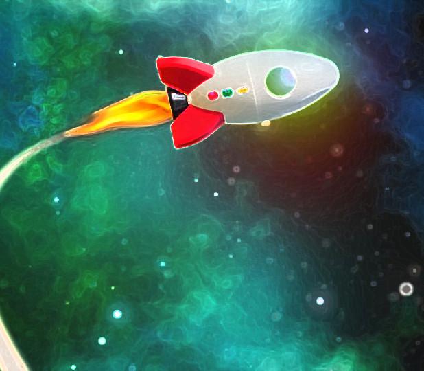 月世界旅行に向かうロケット(月世界旅行)