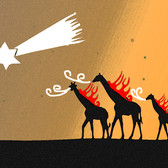 彗星の落下と燃えるたてがみのキリン(コメット・イブニング)