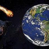 地球に迫りくる彗星を見つめるクマ(コメット・イブニング)