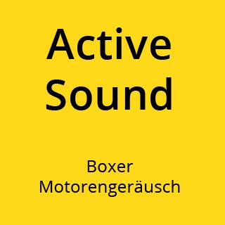 Bild Vorteil Active Sound das heißt Boxer Motorengeräusch