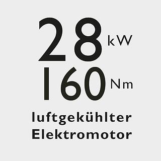 Bild Vorteil luftgekühlter E-Motor