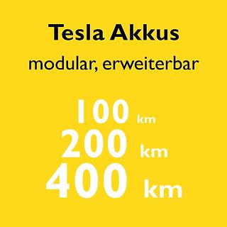 Bild Vorteil modulare und erweiterbare Tesla Akkus