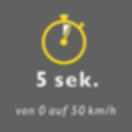 Bild Vorteil von 0 auf 50 kmh in 5 Sekunden