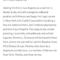 Named Partner at Olsoff | Cahill | Cossu LLP