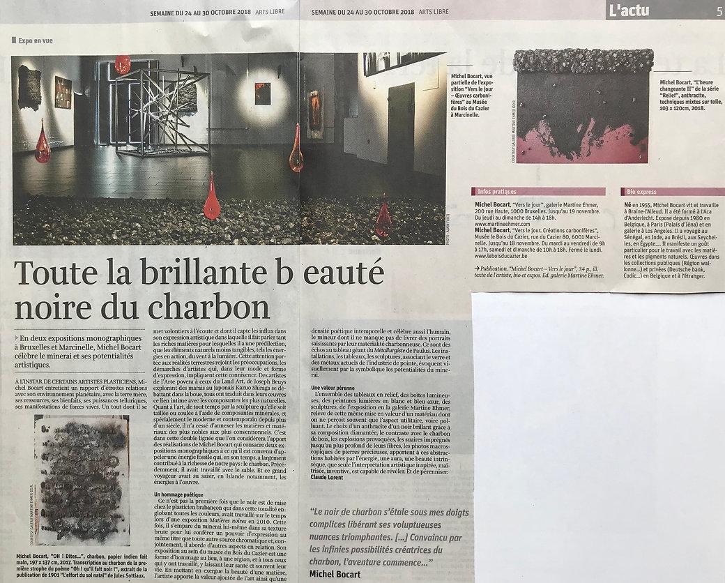 Art libre Claude Lorent exposition Vers lejour