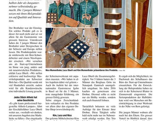 Artikel in der Könizer Zeitung