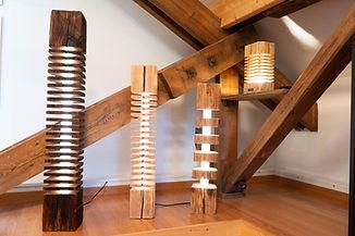 Altholz Lampe - Designer Leuchte