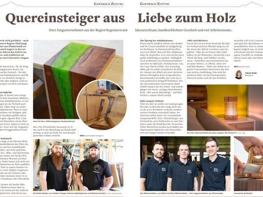Artikel in der Gantrisch Zeitung