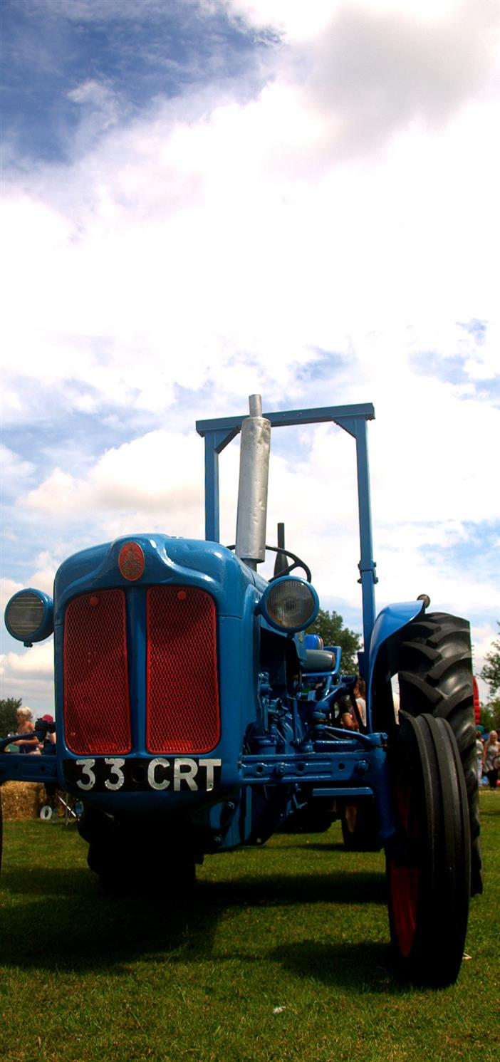 Tractor at Bedfield Fete