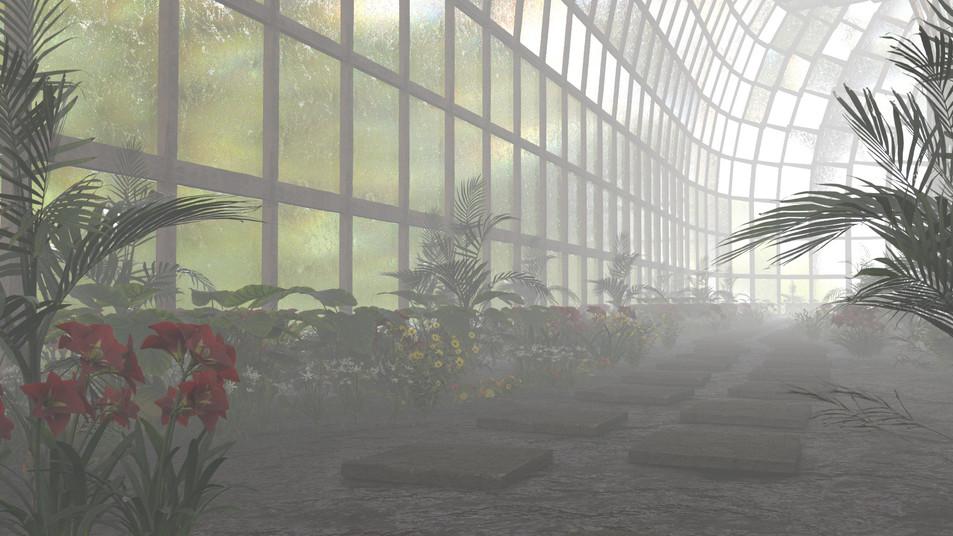 Misty Greenhouse