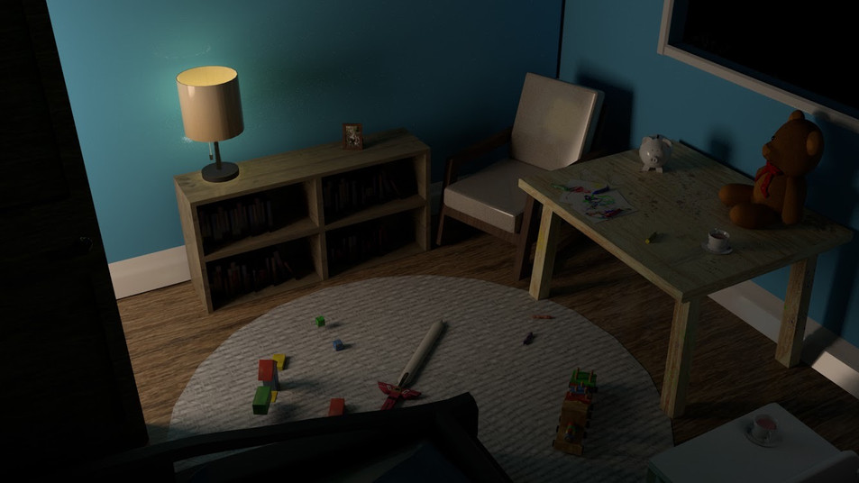 Child's Bedroom - Night