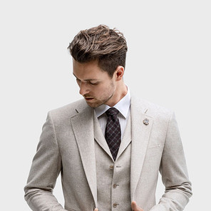 Three-piece single breasted, notch lapel