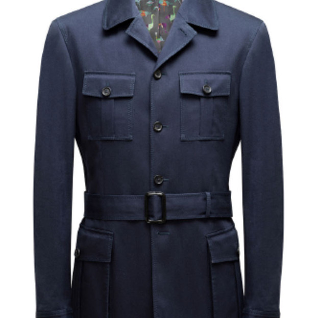 Safari Jacket with belt, 5 buttons