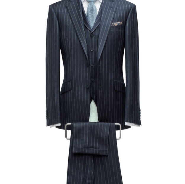 Style 5: Single breasted, 5 button lapel with points.