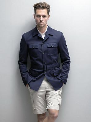 Safari jacket and shorts