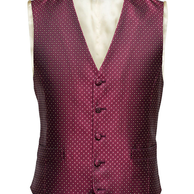 Style 1: Single breasted, 5 buttons with points. Style P5: 2 welt pockets. Standard neck opening.