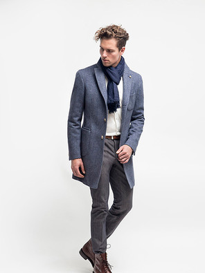 Deconstructed overcoat, with no lining or shoulder padding