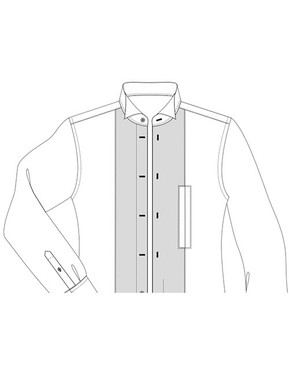 White Tie pique front with handhole option