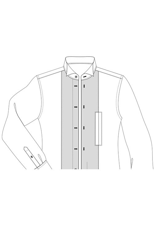 Pique front with handhole option