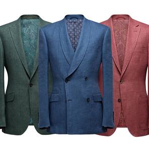 Peak, shawl or notch collar