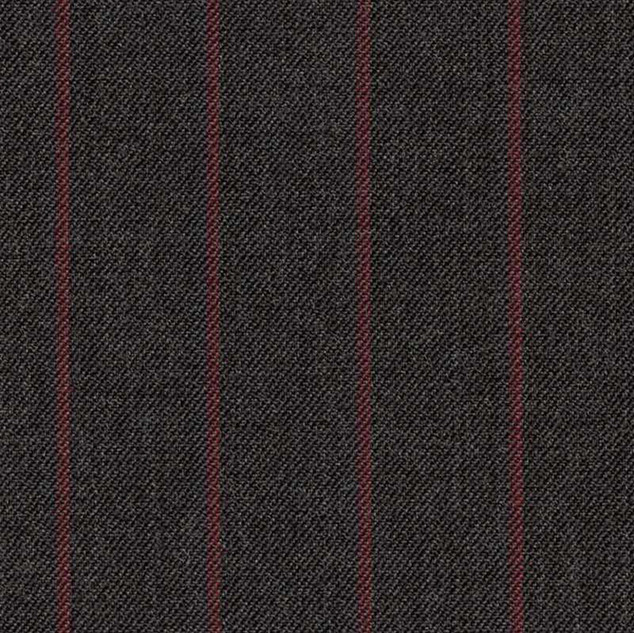 Charcoal guarded red stripe