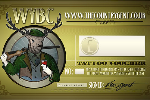 Tattoo Gift Voucher