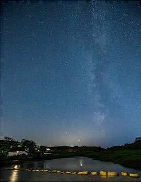 Milky Way Above Stepping Stones