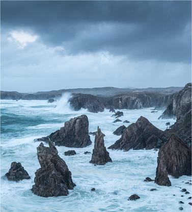 Rough Sea's At Aird Feinis