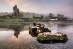 Ogmore Castle And Stepping Stones