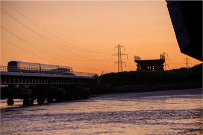 Train Over Loughor Bridge