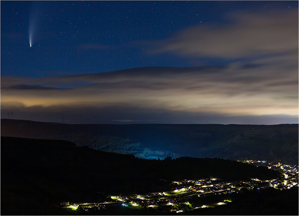 Neowise Above Cwmpark