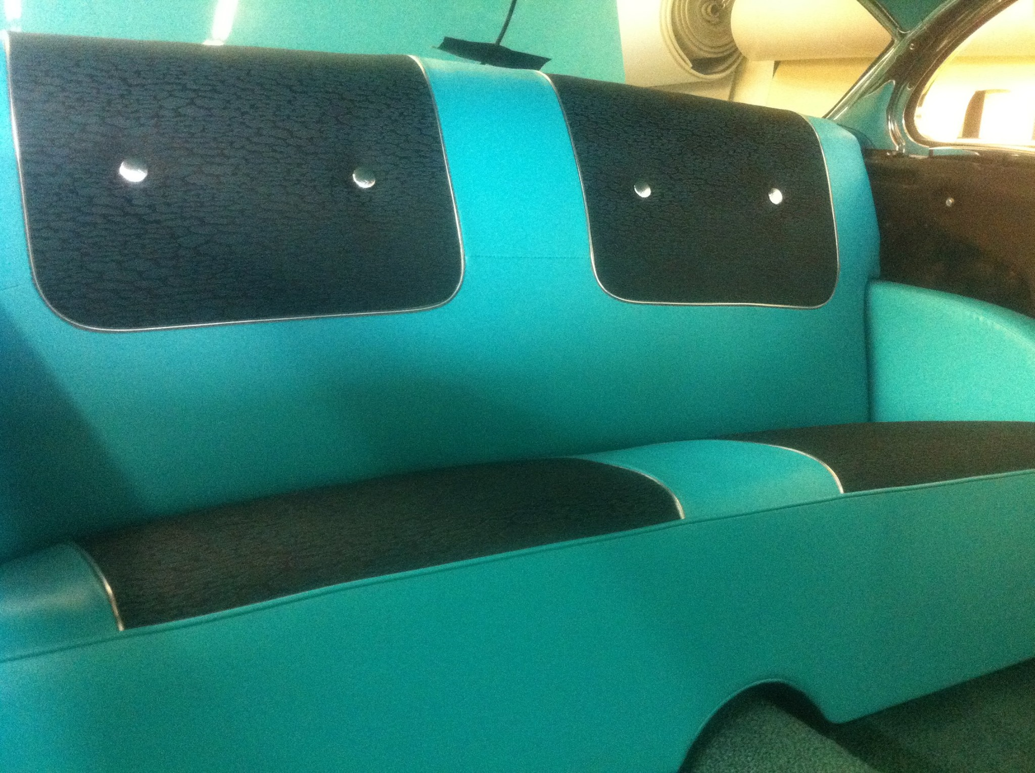 Teal 56 Chevy Seats
