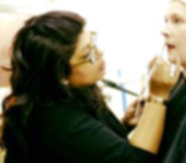 makeup artist on filmshoot leicester