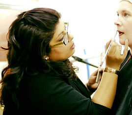 makeup artist on filmshoot leicester