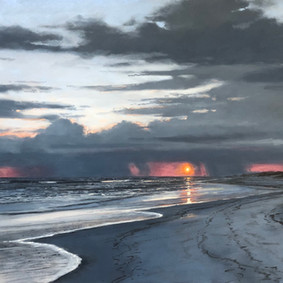 Seaside Sunset By The Seashore