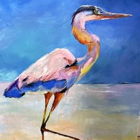 Beach Blue Heron