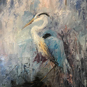 Blue Heron - Moderate Abstract