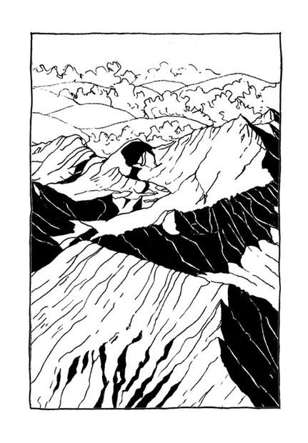 Outdoor-postcards-mountains-illustration