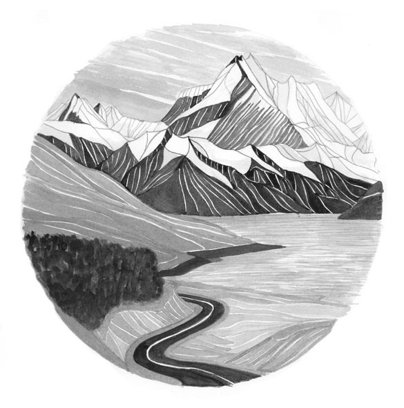 Outdoor-postcards-mountain-illustration-