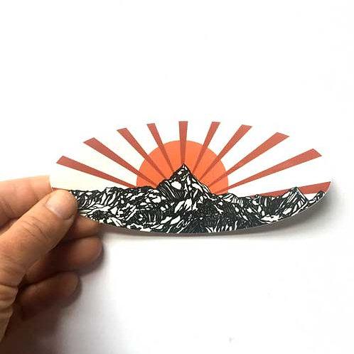 Mountain sunset Vynil Sticker