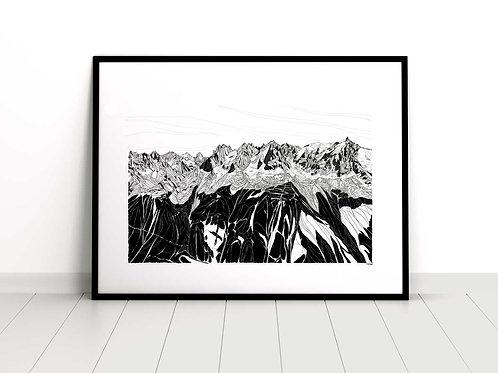 Chamonix skyline