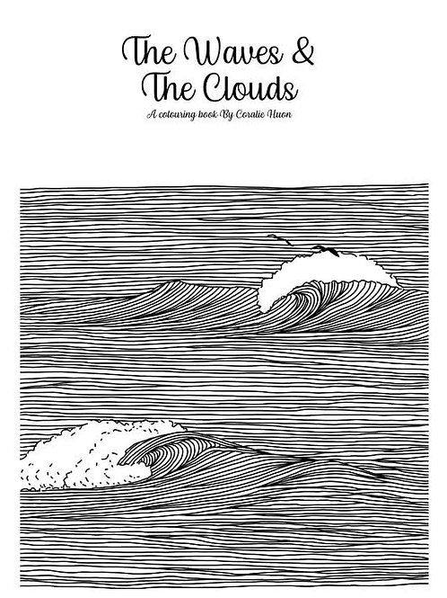 Colouring bookThe Waves and the clouds_ Digital download