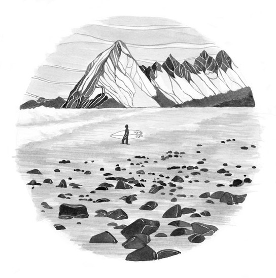 Outdoor-postcards-surf-illustration-alas