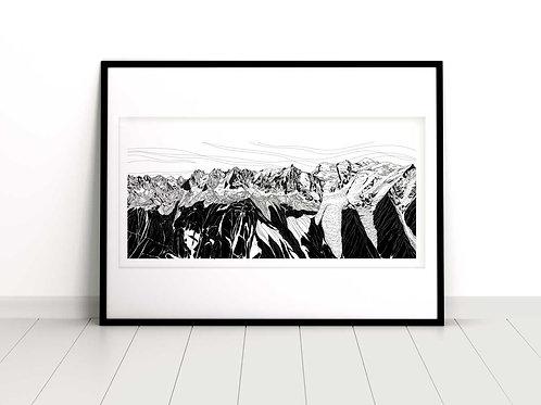 Chamonix Panoramic_ Art print
