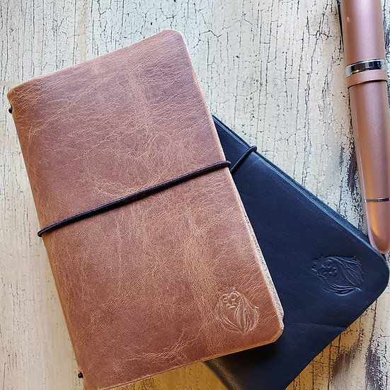 Edwards Journal in Pocket Size made with Horween Dublin