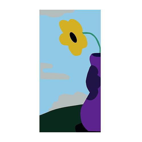 (Pré-commande) SERVIETTE ÉTÉ, Fleur dans Vase