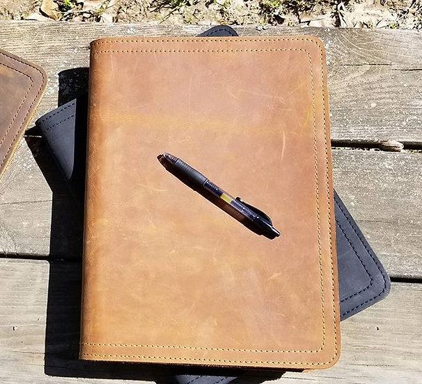 Large Portfolio in Tobacco leather