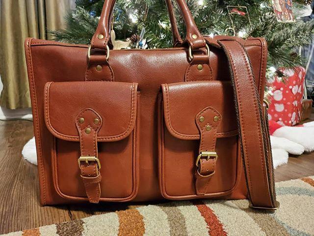 Leather Zipper Briefcase