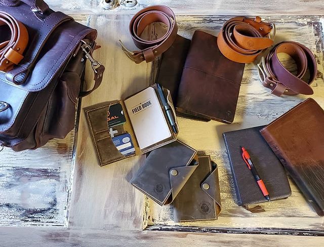 Field Notes/Passport Wallet Brown Crazy Horse Leather
